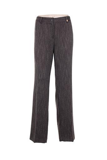 andamio pantalons femme de couleur marron