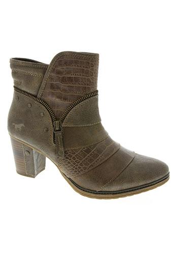 mustang chaussures femme de couleur marron
