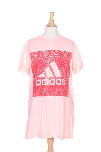 adidas t-shirts fille de couleur rose