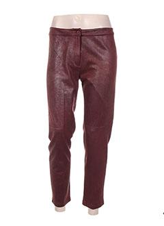 Pantalon casual rouge POUPEE CHIC pour femme