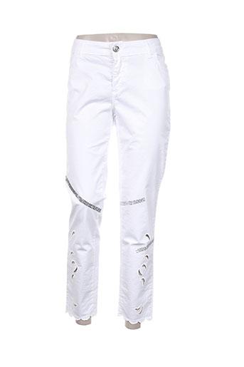daniela dallavalle pantalons femme de couleur blanc