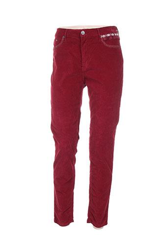 poupee chic pantalons femme de couleur rouge