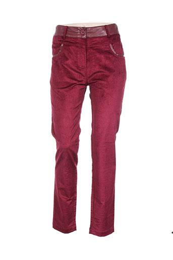 poupee chic pantalons femme de couleur rose