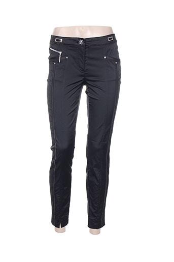 sportalm pantalons femme de couleur noir
