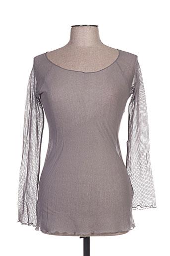 accostages chemises femme de couleur gris