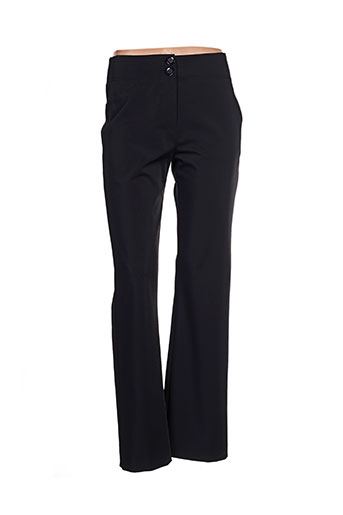 cassiopee pantalons femme de couleur noir