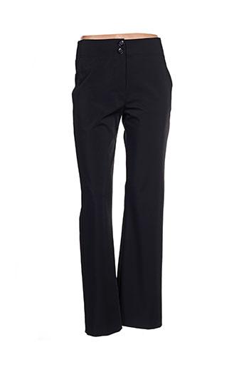 Pantalon casual noir CASSIOPEE pour femme