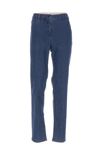 bx jeans femme de couleur bleu