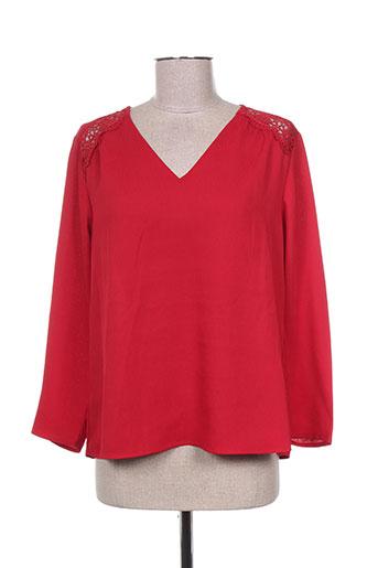 cherry chemises femme de couleur rouge