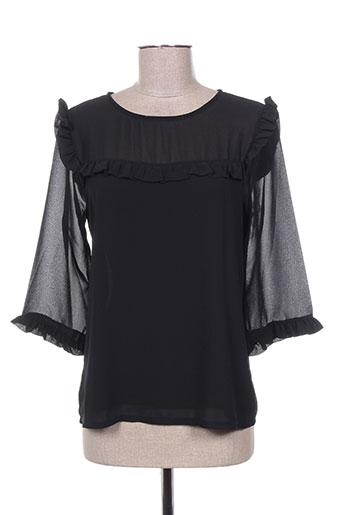 callisto chemises femme de couleur noir