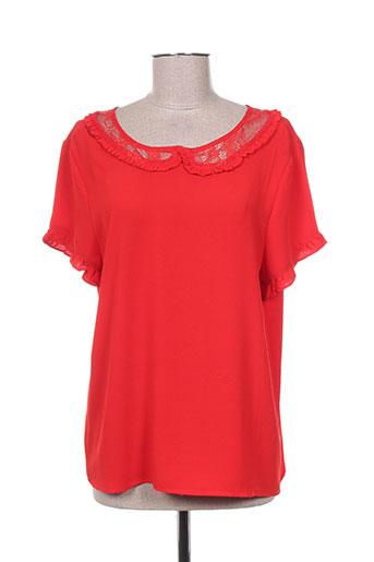 cherry paris chemises femme de couleur rouge
