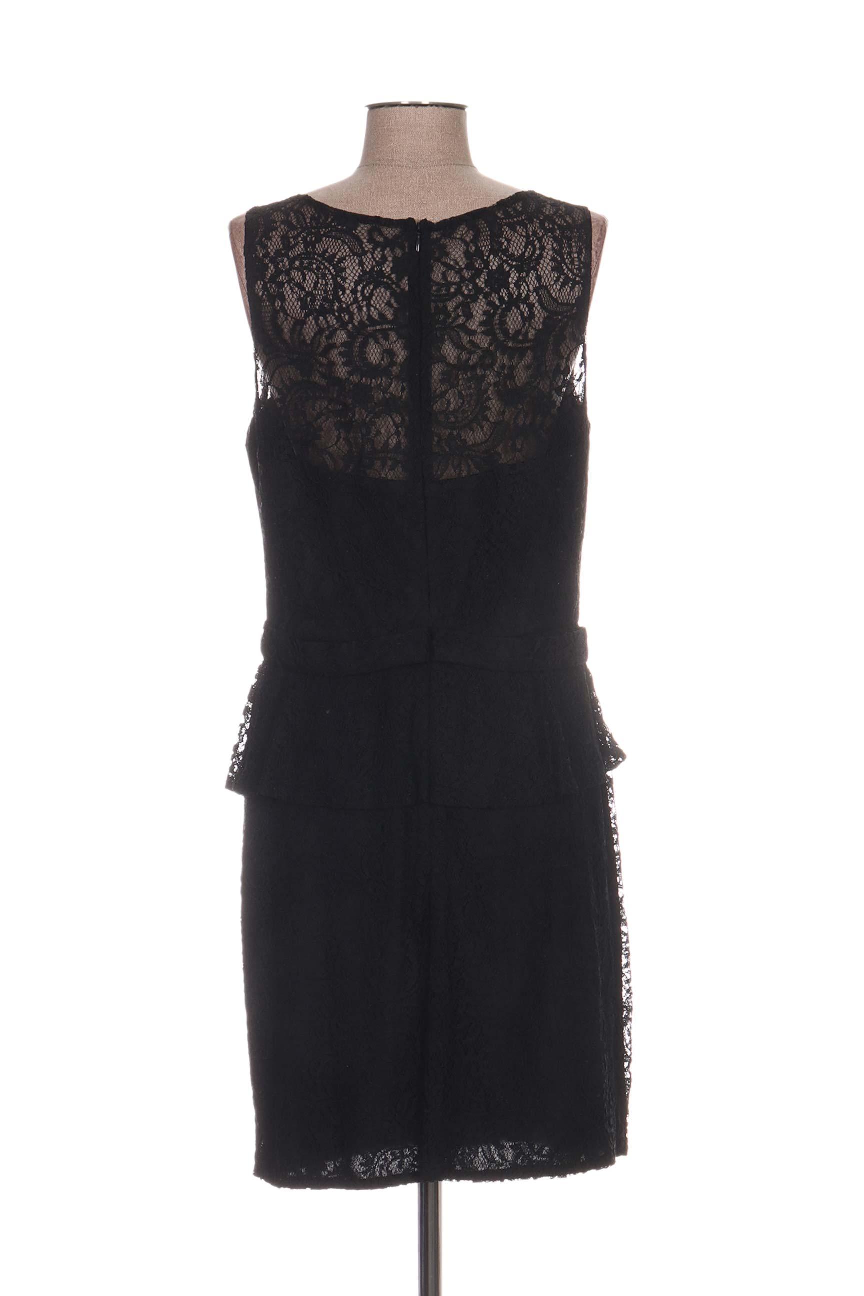 Fashion New York Robes Mi Longues Femme De Couleur Noir En Soldes Pas Cher 1173711-noir00