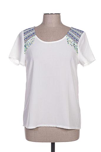 carminn chemises femme de couleur blanc
