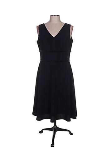 Robe mi-longue noir CAMELOT pour femme