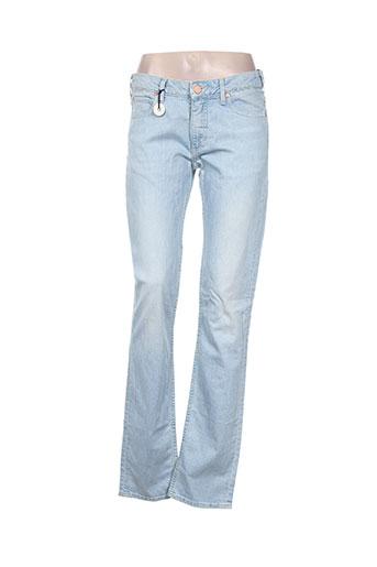 acne studios jeans femme de couleur bleu