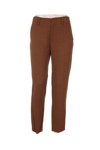 Pantalon chic marron FORTE-FORTE pour femme