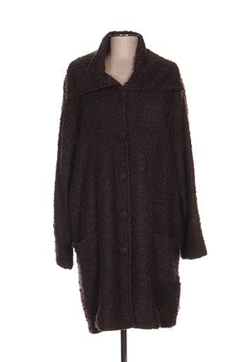 kakie manteaux femme de couleur marron