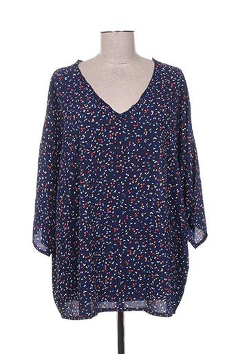 noogat chemises femme de couleur bleu