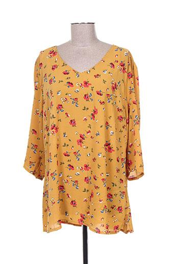 noogat chemises femme de couleur jaune