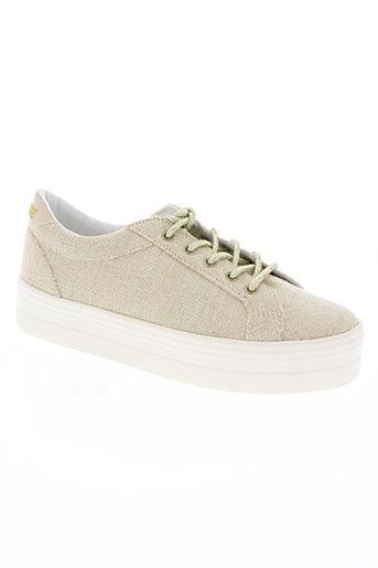 no name chaussures femme de couleur beige