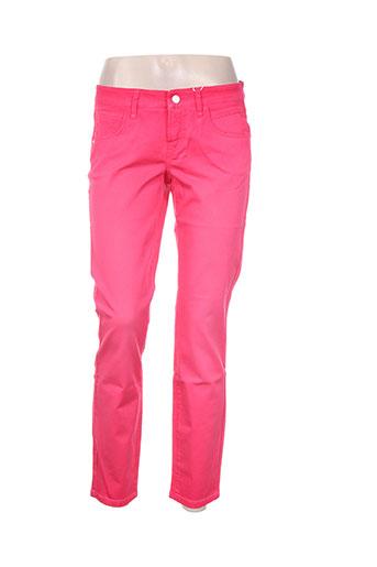 cambio pantalons femme de couleur rose