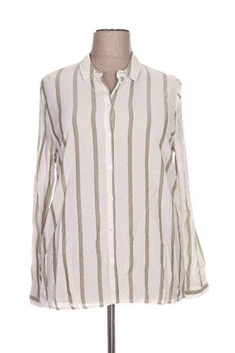 imitz chemises femme de couleur blanc