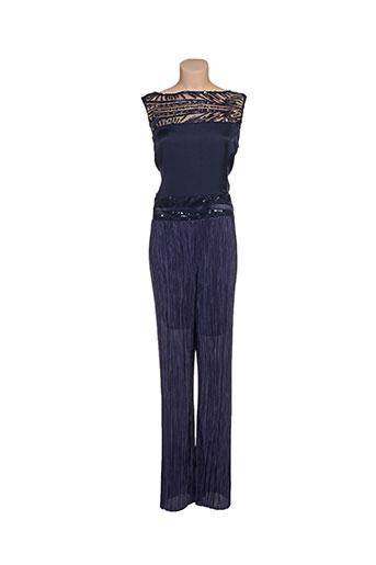 paz torras pantalons femme de couleur bleu