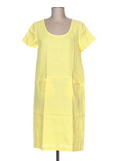 Robe mi-longue jaune EVA TRALALA pour femme