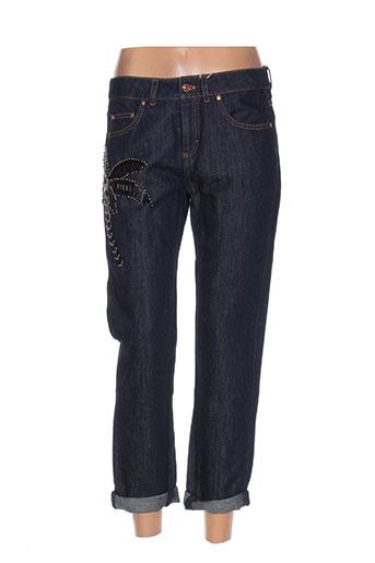 escada jeans femme de couleur bleu