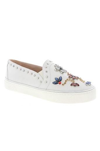 stuart weitzman chaussures femme de couleur blanc