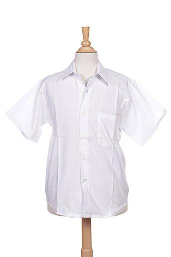 coudemail chemises garçon de couleur blanc