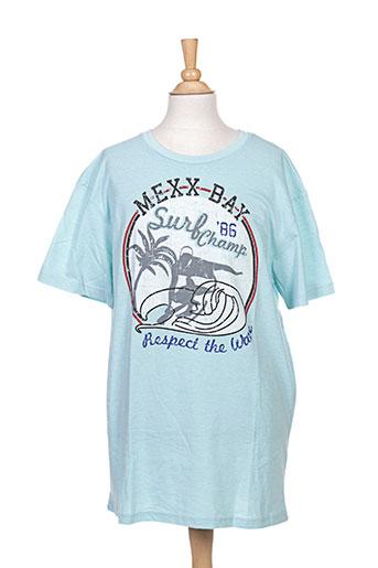 mexx t-shirts garçon de couleur bleu