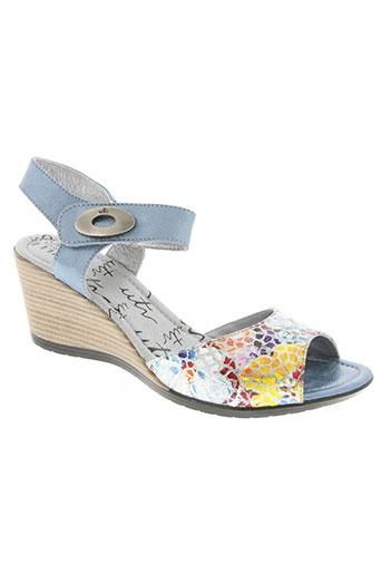 un tour en ville chaussures femme de couleur bleu