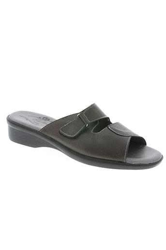 salmone chaussures femme de couleur noir