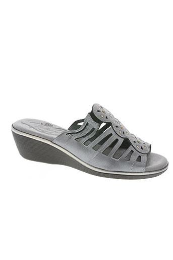 salmone chaussures femme de couleur gris
