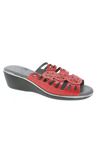 salmone chaussures femme de couleur rouge