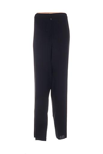 doucel pantalons femme de couleur noir