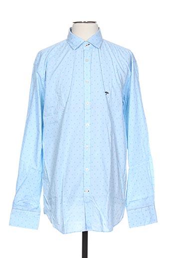 fynch-hatton chemises homme de couleur bleu