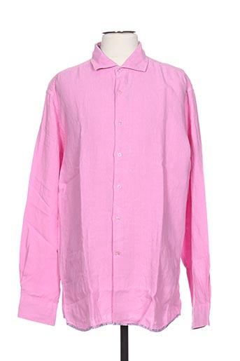 ch. k. williams chemises homme de couleur rose