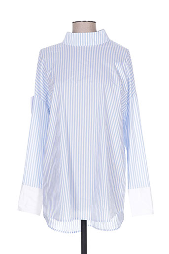 cubic chemises femme de couleur bleu