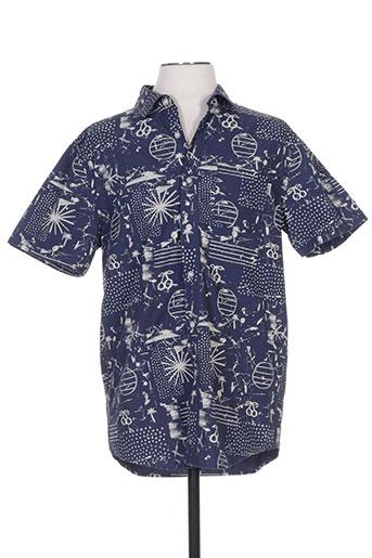 wemoto chemises homme de couleur bleu