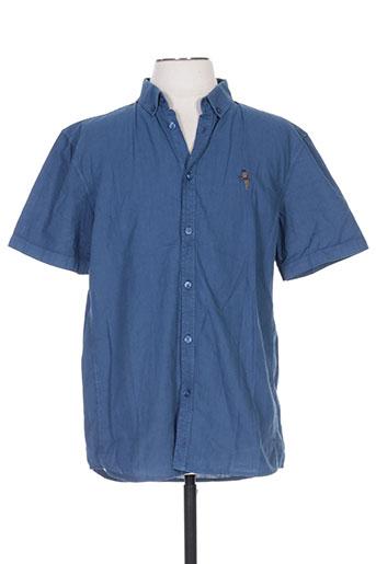 Chemise manches courtes bleu ANERKJENDT pour homme