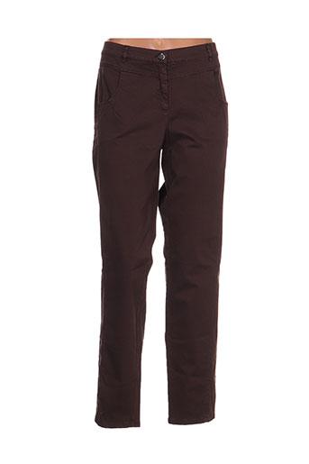 tuzzi pantalons femme de couleur marron
