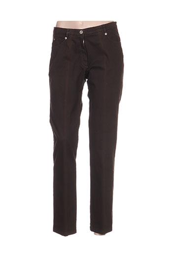 france rivoire pantalons femme de couleur marron