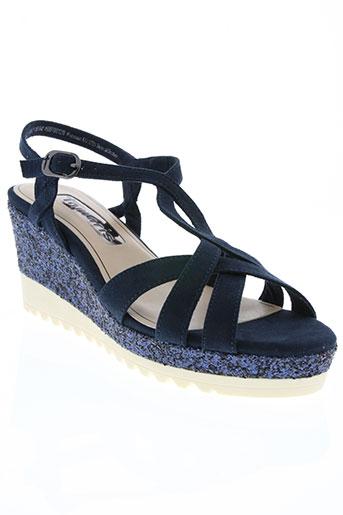 tamaris chaussures femme de couleur bleu