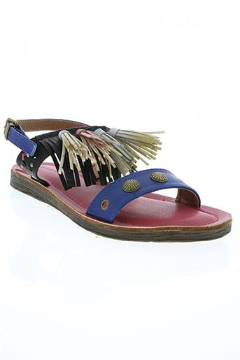delires de fille chaussures femme de couleur bleu
