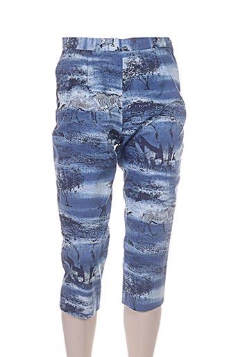 bleu de sym pantacourts femme de couleur bleu