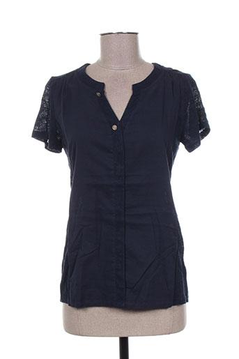 mae mahe chemises femme de couleur bleu