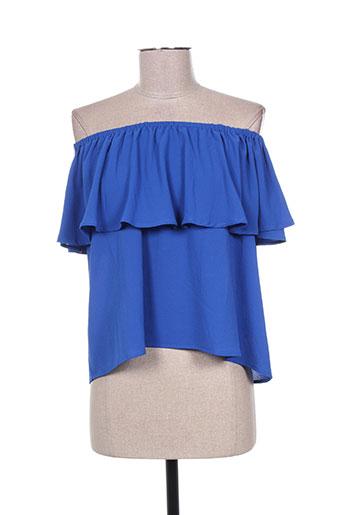 millenium chemises femme de couleur bleu