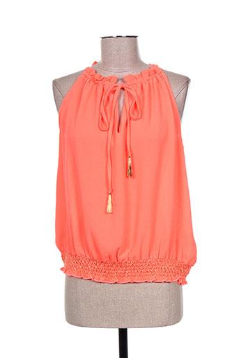 millenium chemises femme de couleur orange